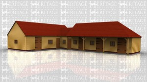 This oak framed stable complex includes three standard stables complete with stable doors and windows, one foaling stable that is slightly bigger and as well as a stable door and window in the external walls also has a stable door through to the tack room. There is also a small store room with WC and in the sitting up and tack area there is a bathroom and kitchen area.