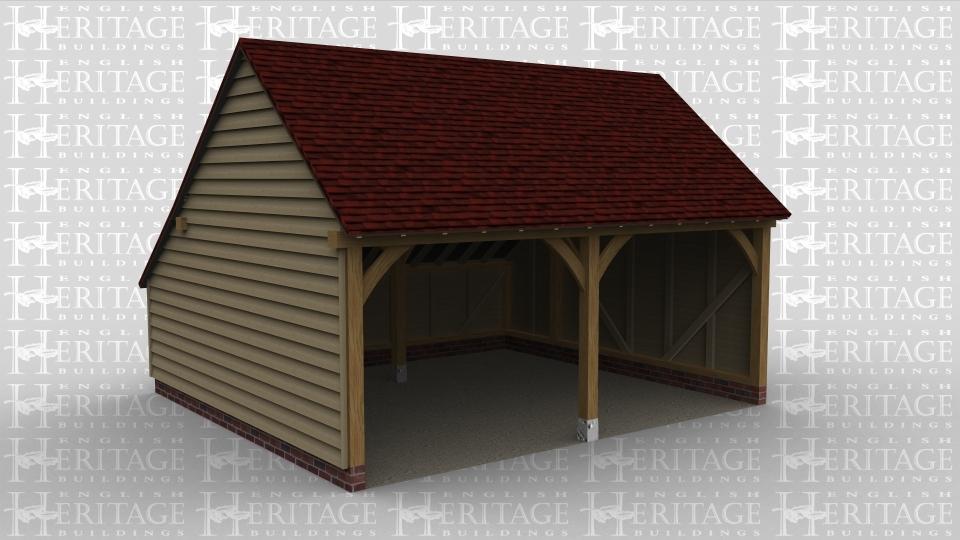 A 2 bay oak framed garage.