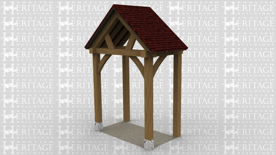 An oak frame porch