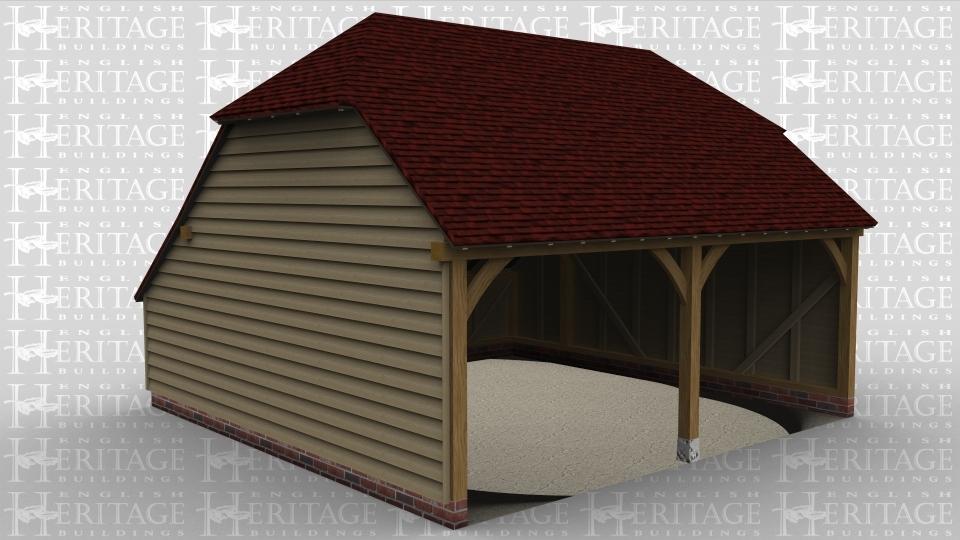 Oak Framed Two Bay Garages Ws01491 English Heritage