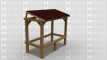 A simple single bay oak frame lean to.