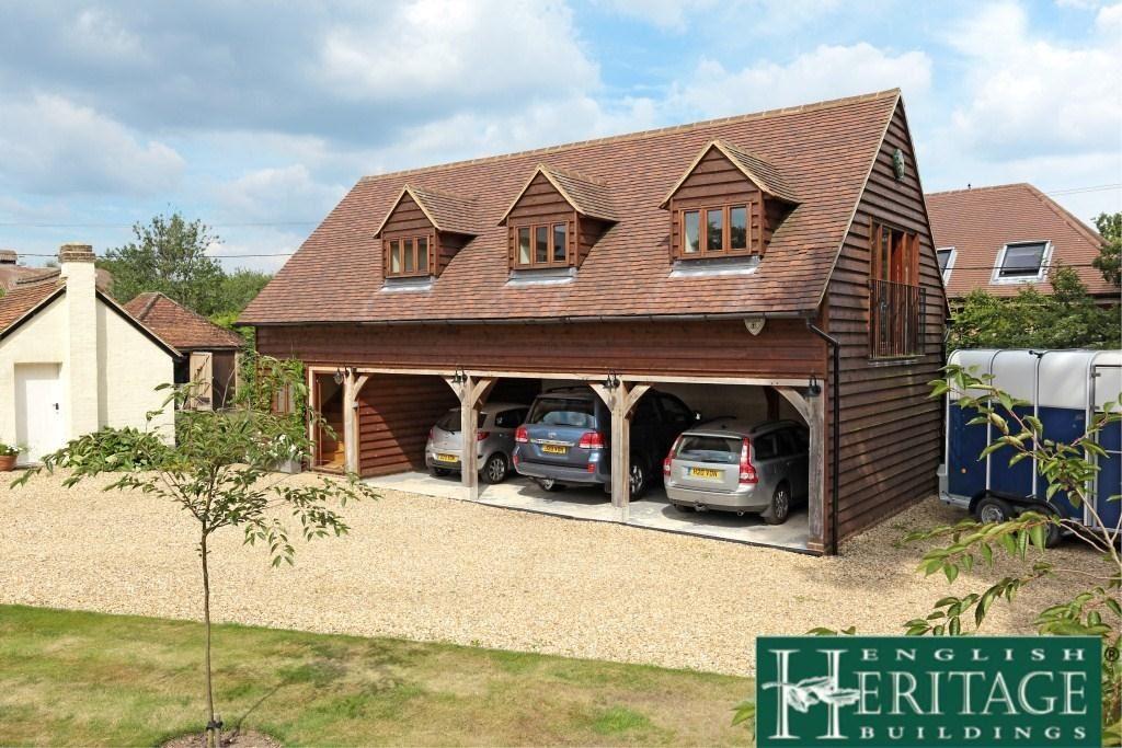 Four bay oak framed garage
