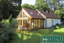 Oak Frame Lean To Garden Room Landscape