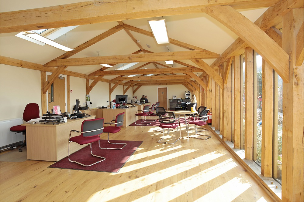 English Woodlands Oak Frame Office