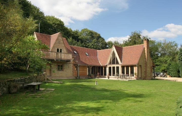 Stunning oak frame house