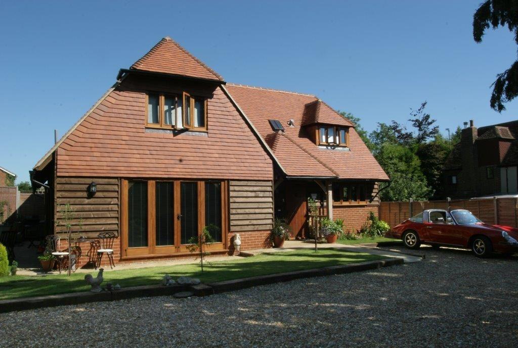 Oak frame barn style house