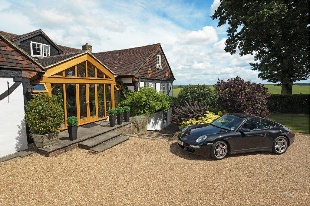 3 bay oak frame monopitch home extension all sides open for Design my own home extension