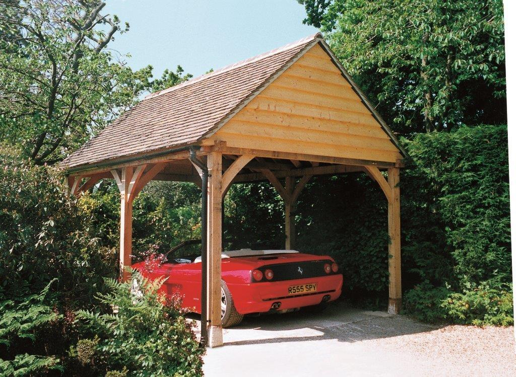 One bay oak garages