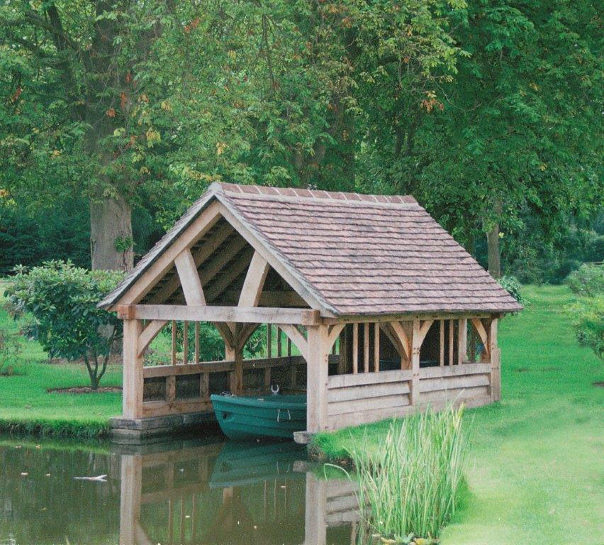 Oak Frame boat house