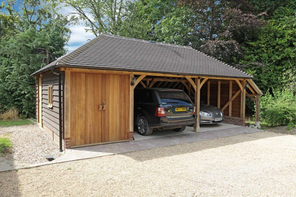Three Bay Oak Frame Garage 2