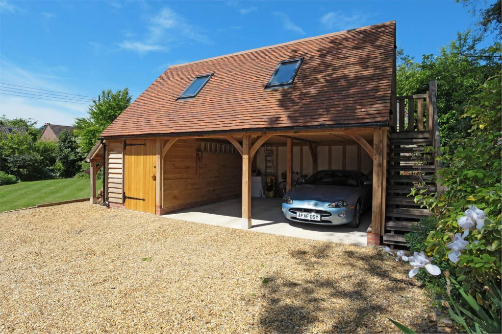 Three Bay Oak Frame Garages With Upper Floors 2
