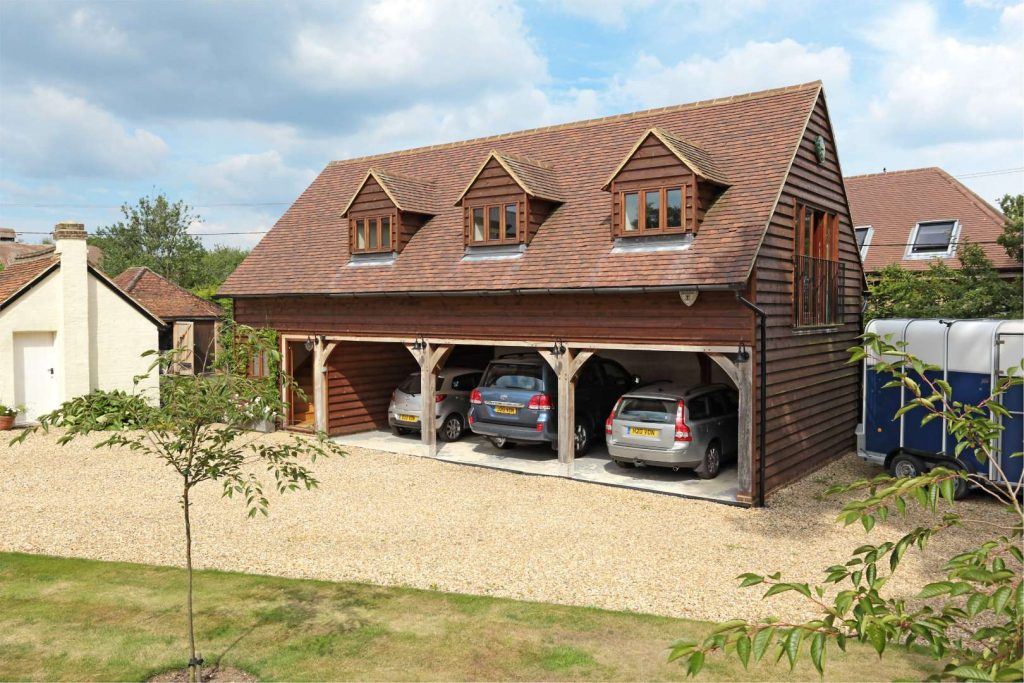 Four Bay Oak Frame Garages With Upper Floors 2
