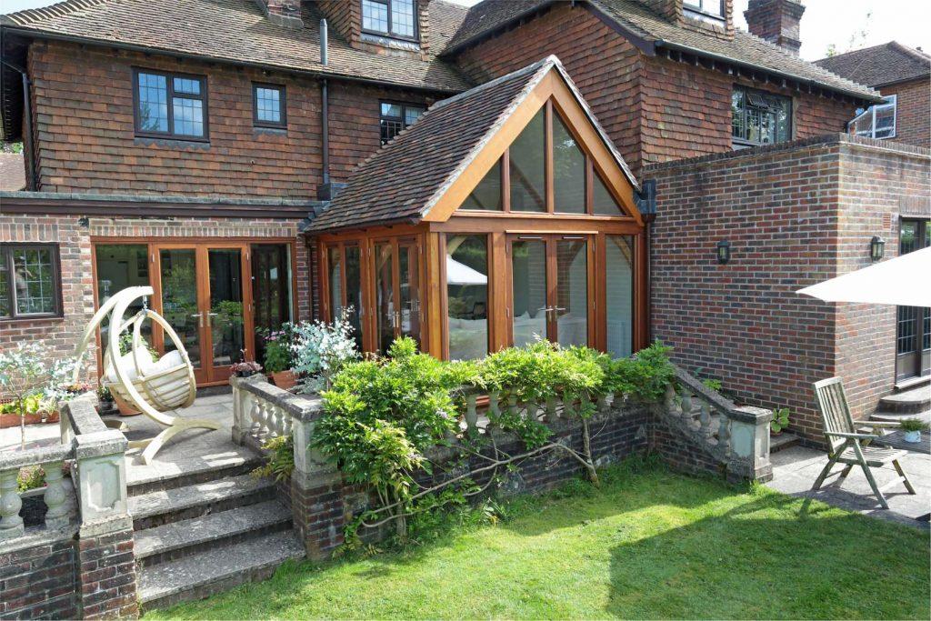 Oak Frame Lean To Garden Room